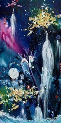 Celestial Stillpoint by Danielle O'Connor Akiyama -  sized 36x72 inches. Available from Whitewall Galleries
